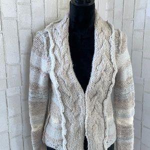 Free people wool blend knit sweater jacket
